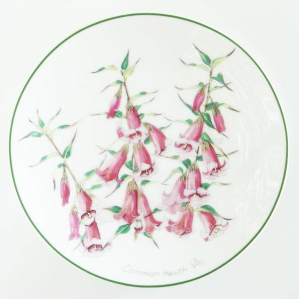 gebaksbordje roze klokjes