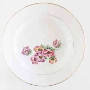 serveerschaal roze bloemen